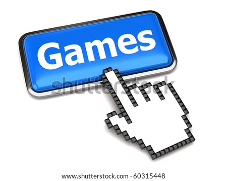 Games button and hand cursor