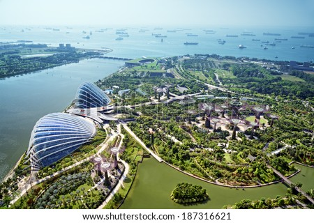 Garden by the Bay, Singapore. - stock photo