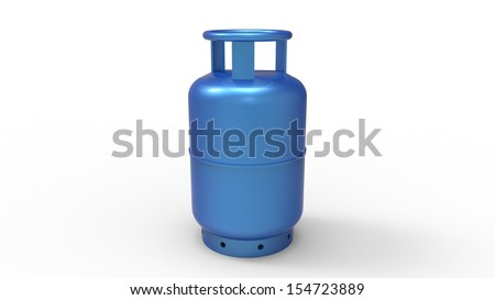 gas balloon isolated on a white background - stock photo