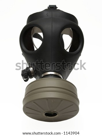 Gas mask - isolated on white - stock photo
