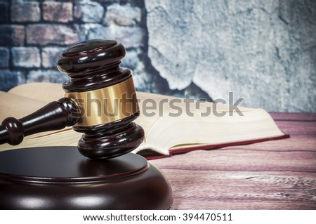 gavel and book  - stock photo