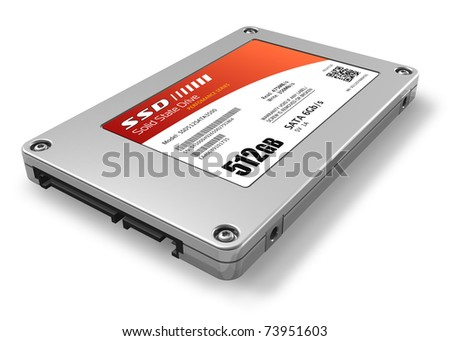 512GB solid state drive (SSD) - stock photo