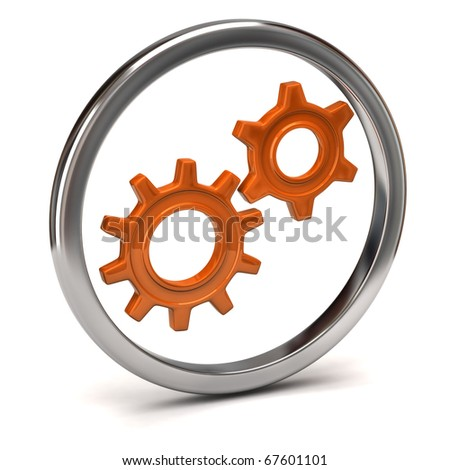 Gears icon - stock photo