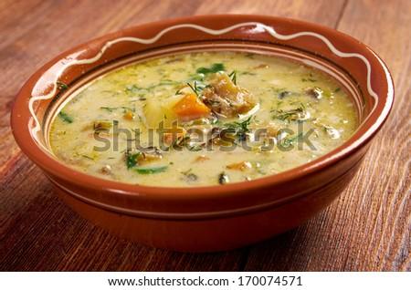 Gentse Waterzooii  - s a Belgian dish of stew, originating in Flanders - stock photo