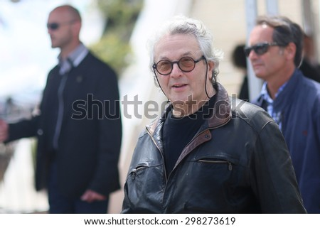 George Miller  attends the 'Mad Max : Fury Road' Photocall during the 68th annual Cannes Film Festival on May 14, 2015 in Cannes, France. - stock photo
