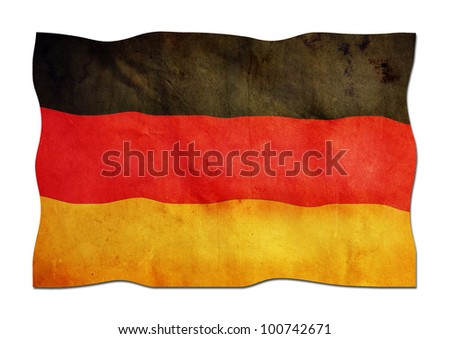 German Flag made of Paper - stock photo