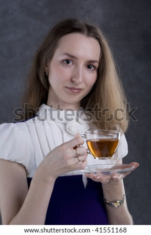 girl and cup of tea