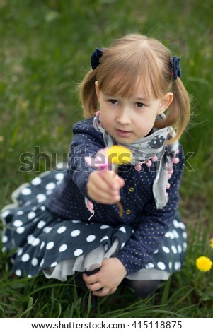 girl spring - stock photo