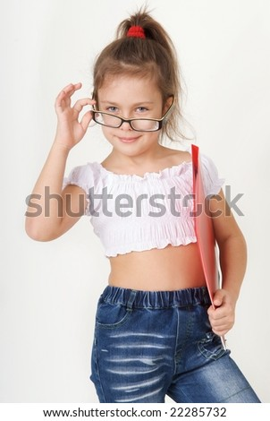 girl with a folder