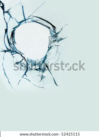 Glass   broken - stock photo