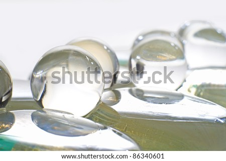 GLASS SPHERES OR CRYSTALS - stock photo