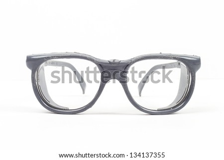 glasses on the white background