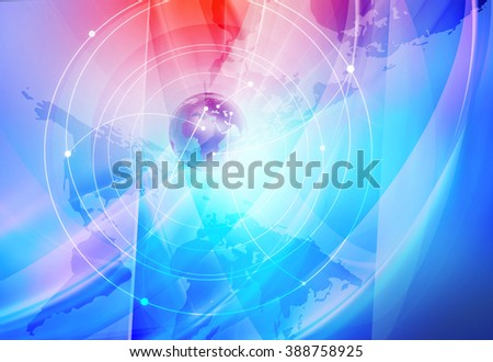 Global Internet Connections Background Through the Digital World, Futuristic Background - stock photo