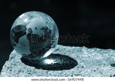 globe, ecology - stock photo