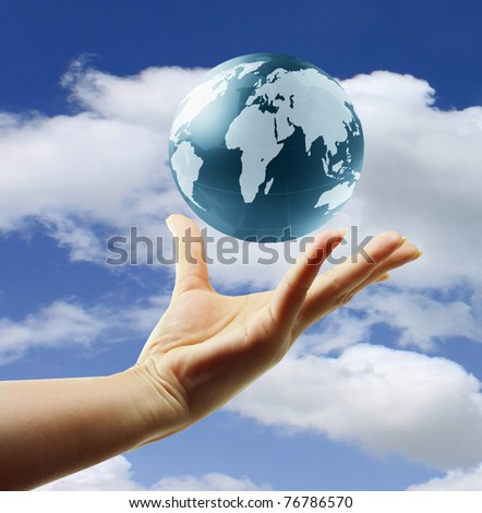 globe in hands. Concept for environment conservation