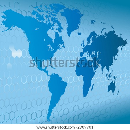 Globe Word Map of Earth Background A dynamic 3d world map with background. Raster version - stock photo