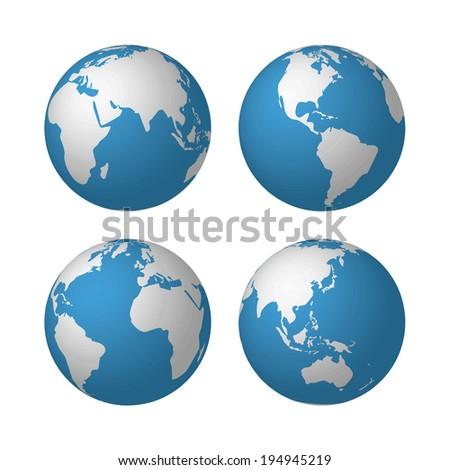 globes. Raster version - stock photo