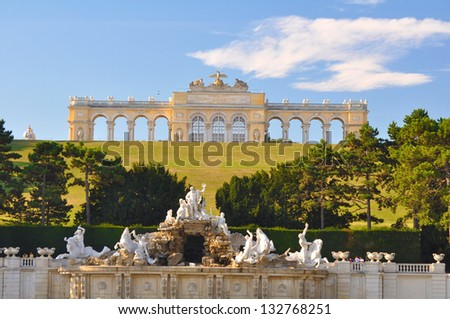 Gloriette in the Schonbrunn Palace Garden, Vienna, Austria - stock photo