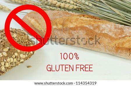 100 % gluten free - stock photo
