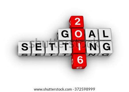 2016 Goal crossword puzzle - stock photo