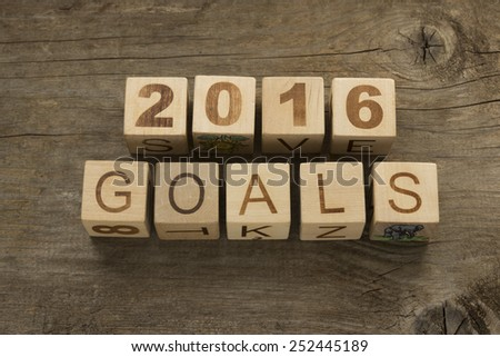 2016 goals - New Year resolution concept  - stock photo