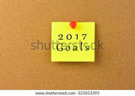 2017 Goals on a Noticeboard.