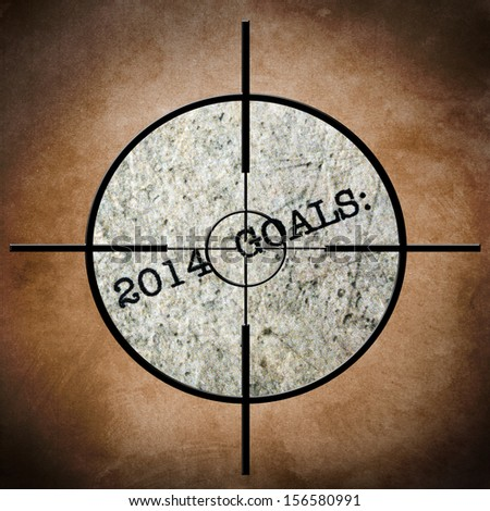 2014 goals target - stock photo