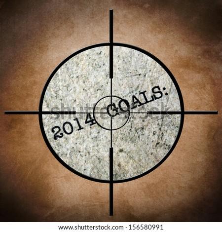 2014 goals target - stock photo
