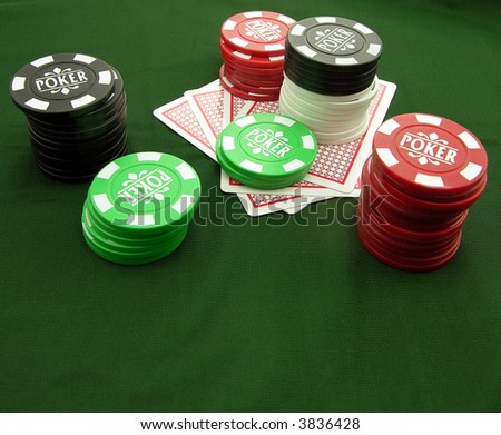 Going blind at poker or takingt a chance - stock photo