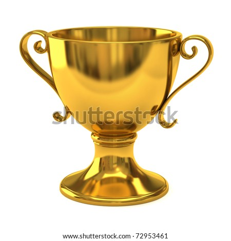 Gold cup of the winner - stock photo