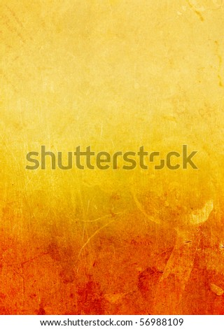 Gold old paper with a figured emarginated, isolated on white - stock photo