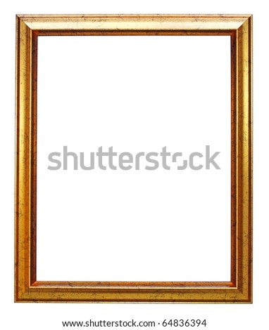 gold picture frame - stock photo