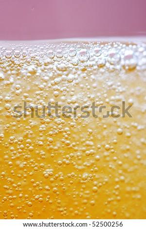 Golden champagne bubbles - stock photo