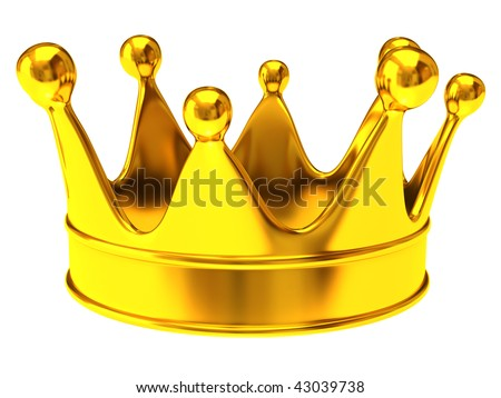 Golden crown - stock photo