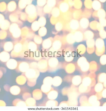 Golden holiday glowing abstract bokeh defocused background - stock photo
