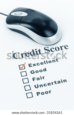 Good Credit Score, Business Concept for Background - stock photo