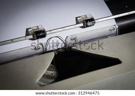 """GOOD NIGHT"" message typed by vintage typewriter thai - stock photo"