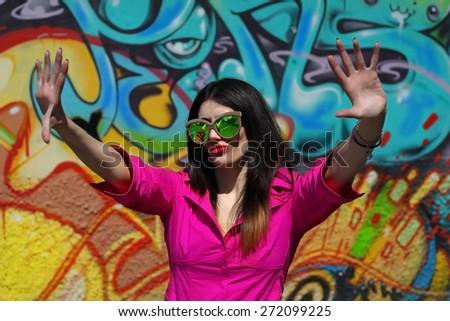 Graffiti Girl                              - stock photo