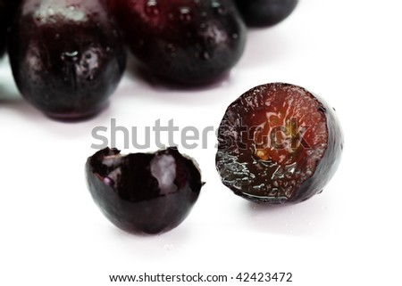 Grape berry  isolated on white