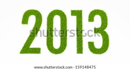 2013 grass year - stock photo