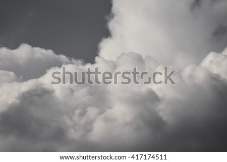 gray clouds                               - stock photo