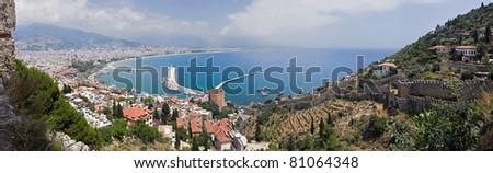 Great Panorama of Alanya, Turkey - stock photo
