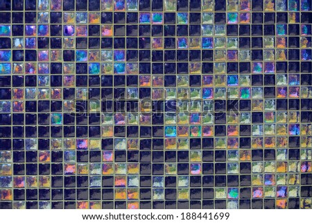 Great view of various colorful detailed ceramic mosaic tiles background - stock photo