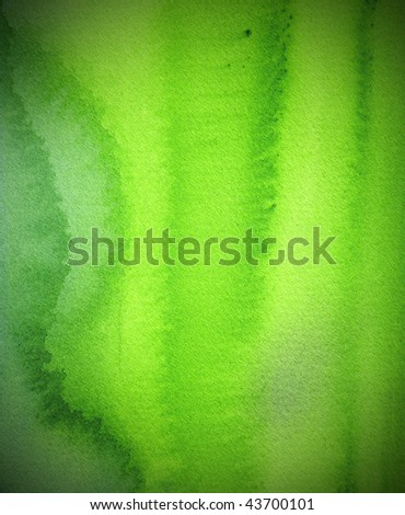 green    abstract watercolor background - stock photo
