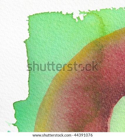 green and red abstract watercolor background