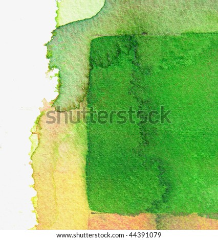 green and yellow abstract watercolor background