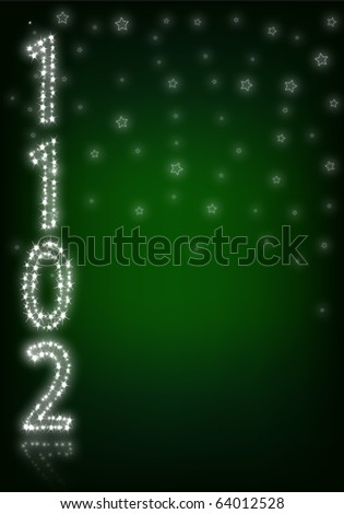 green  background  with 2011 number  with stars