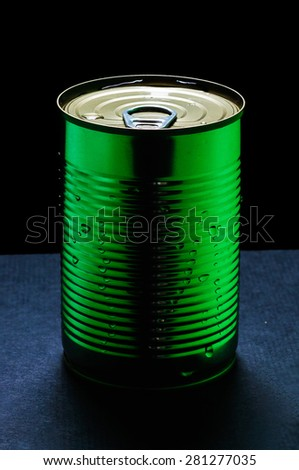 green blank aluminum can
