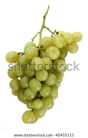 green grapes isolated on a white background