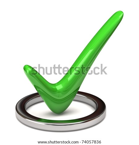 Green tick sign - stock photo